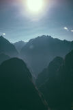 Photo of Black Mountains Under the Sun Stock Photography