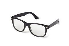Photo of black nerd glasses on white Royalty Free Stock Photography