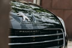Photo of Black Peugeot car Royalty Free Stock Photo