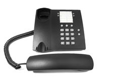Photo of black phone Royalty Free Stock Image