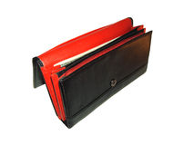 Photo of black with red purse Stock Photo