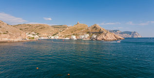 Photo of Black sea near Balaklava. Ukraine Stock Photo