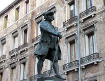 statue of Carlo Goldoni in Venice, Italy Stock Photos