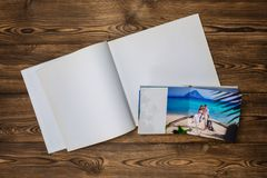 Photo blank brochure cover Stock Photos