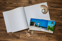 Photo blank brochure cover Royalty Free Stock Image