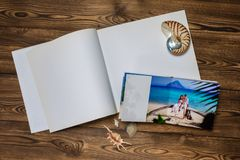 Photo blank brochure cover Royalty Free Stock Images