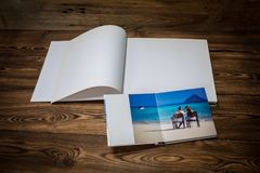 Photo blank brochure cover Stock Photography