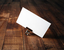Photo of blank business card Royalty Free Stock Photo