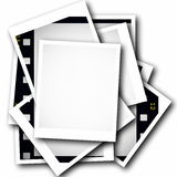 Photo with blank film strip frame. On white background Stock Photo