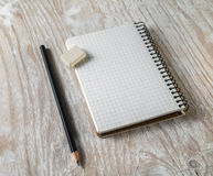 Photo of blank sketchbook Royalty Free Stock Images