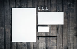 Photo of blank stationery set Stock Image