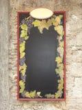 Wine Blackboard Stock Photo