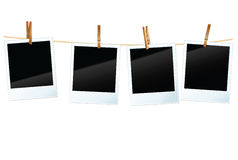 Photo blanks. Vector photo blanks in a row Royalty Free Stock Photos