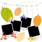Photo blanks on autumn background Royalty Free Stock Photography