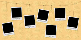 Photo blanks on a rope Royalty Free Stock Photography