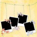 Photo blanks on a rope Stock Images