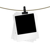 Photo blanks. In a row on white. Big size Stock Photography
