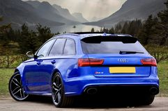 Photo of Blue Audi RS 6 Stock Image