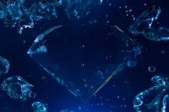 Blue diamond. Royalty Free Stock Photography