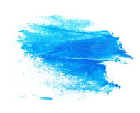 Photo blue grunge brush strokes oil paint isolated on white Royalty Free Stock Photography