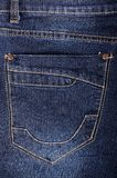 Photo of a blue jeans pocket Stock Images