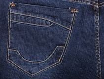 Photo of a blue jeans pocket Royalty Free Stock Photos