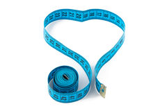 Photo blue measuring tape, heart Stock Photo