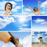 Photo with blue sky Royalty Free Stock Image