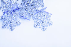 Photo blue snow Stock Photography