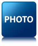 Photo blue square button Stock Image