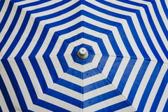 Photo of Blue and White Chevron Umbrella Stock Images