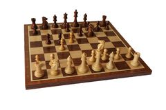Chess opening. Blumenfeld Gambit. Royalty Free Stock Image