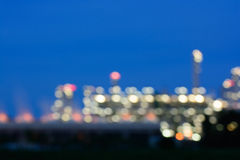 Photo blur Oil refinery factory plant or chamical and power energy. At thailand Stock Photography
