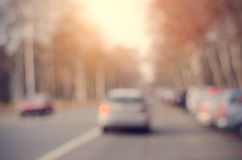 Photo of blurred parking cars Stock Images