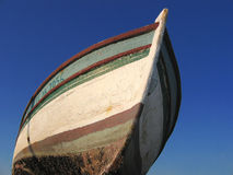 Photo boat and blue sky. Old boat and blue sky Stock Photography