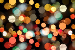 Photo of bokeh. Lights on black background stock image