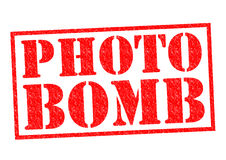 PHOTO BOMB. Red Rubber Stamp over a white background Royalty Free Stock Images
