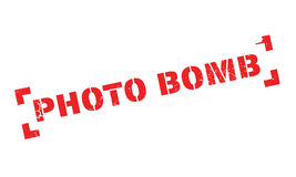 Photo Bomb rubber stamp Royalty Free Stock Images
