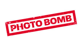 Photo Bomb rubber stamp Royalty Free Stock Photo