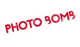 Photo Bomb rubber stamp Stock Photo