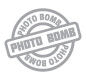 Photo Bomb rubber stamp Royalty Free Stock Image