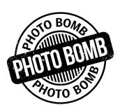 Photo Bomb rubber stamp Stock Photo