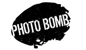 Photo Bomb rubber stamp Stock Image