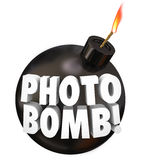 Photo Bomb Words Intruding Others Picture Taking Univited Royalty Free Stock Images