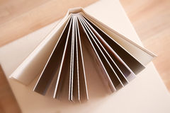 Photo book with a cover of leatherette. Photobook with a cover of light leatherette Royalty Free Stock Photography