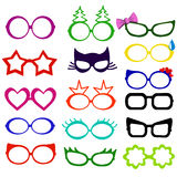 Photo booth props glasses masks Royalty Free Stock Images