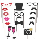 Photo booth props for weddings, party. Vector Illustration vector illustration