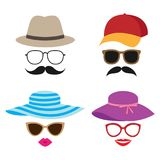Summer photo booth vector props Royalty Free Stock Photography