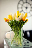 Photo of bouquet spring tulips Royalty Free Stock Photo