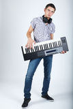 Photo of boy with piano royalty free stock photos